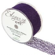 50mm x 20M Organza Eleganza Web Ribbon Purple